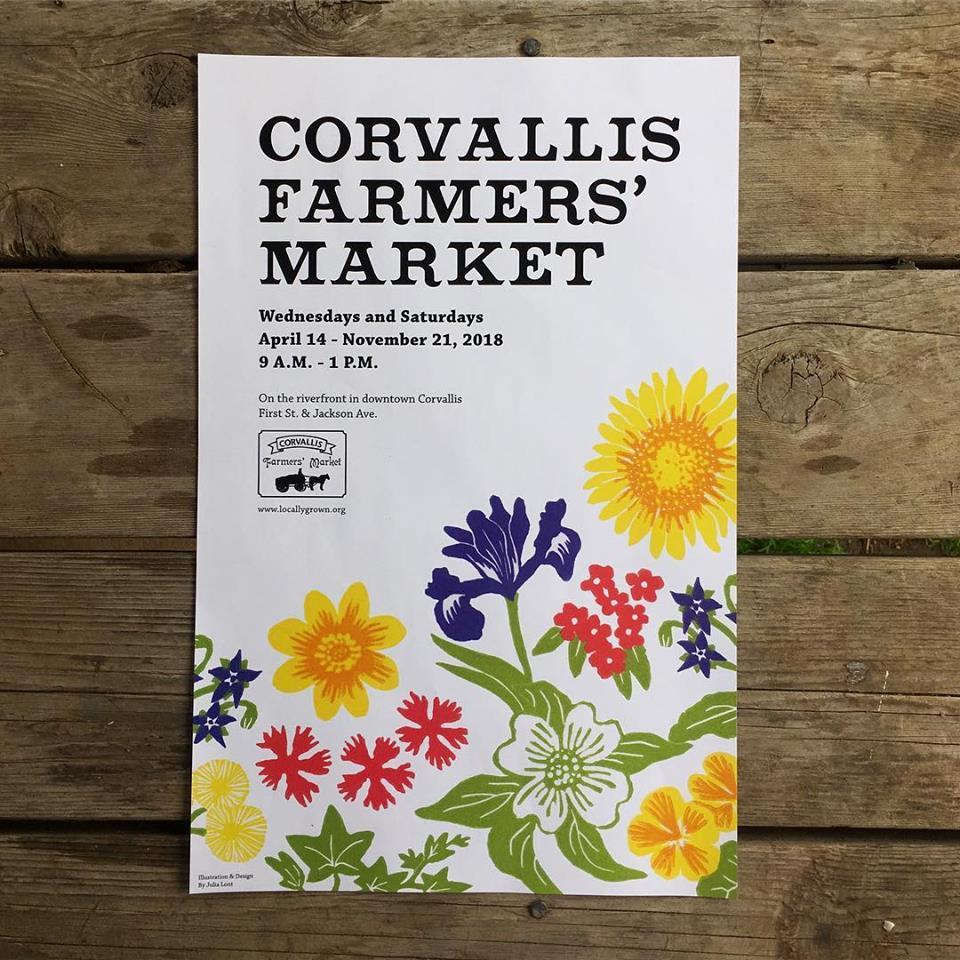 At Wednesday Farmers Market I Signed >> Corvallis And Albany Farmers Market Mona Lisa S Custom Framing And